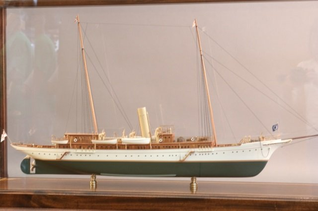 """Cased Model of American Steam Yacht """"Aphrodite"""" - 3"""