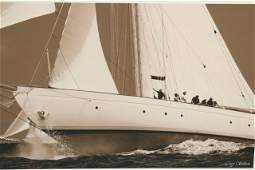 Black and White Print of Yacht