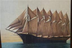 Oil on Canvas of the Thomas W. Lawson