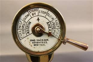 Diminutive Brass Telegraph by Cory