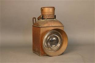 19th Century Copper Signal Lantern