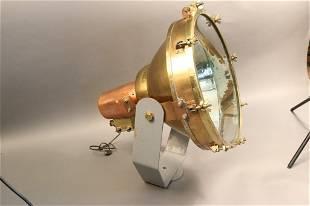 Large Copper Ship's Cargo Light