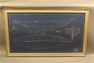 Original John Alden Yachting Blueprint