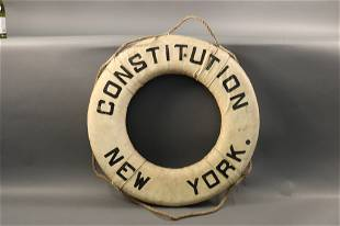 """Life Ring from US Lines Ship """"Constitution"""""""