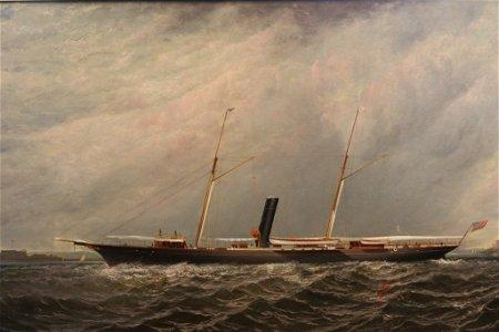 """Elisha Taylor Baker Painting of Yacht """"Stranger"""""""