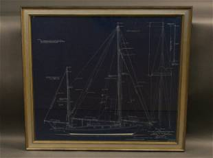 John Alden Yacht Blueprint of a Cruising Yawl