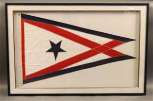 Framed Yacht Burgee, Owner's Flag