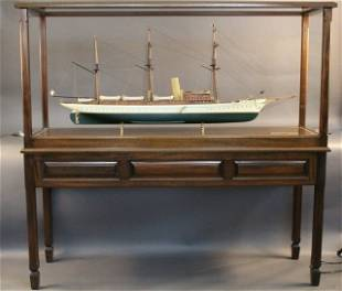 """Cased Model of American Steam Yacht """"Aphrodite"""""""