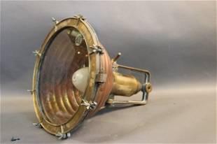 Copper and Brass Ship's Cargo Lantern