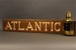 Brass Ship's Port Lantern and Quarterboard