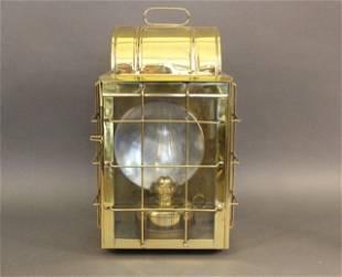 Solid Brass Ship's Bulkhead Lantern