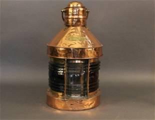 Solid Copper Ship's Trawling Lantern