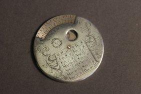 18th Century Silver Perpetual Calendar