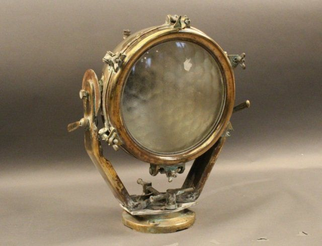 Soilid Brass Ship's Cargo Light