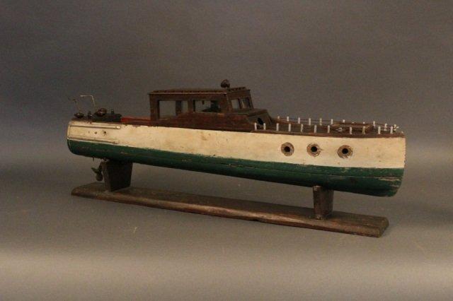 Folk Art Model of a Motor Yacht