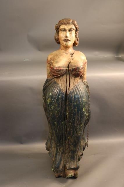 19th century Ship's Figurehead of a Maiden