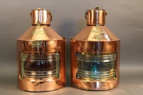 Giant Copper Port And Starboard Lanterns