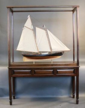 Model Of The Schooner Yacht America Of 1851