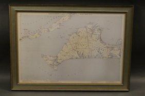 Framed Map Of Martha's Vineyard