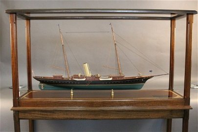 """Model of the Steam Yacht """"Corsair†of 1890"""