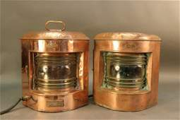 Pair of Copper Ship's Lanterns