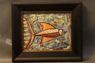 Abstract Fish Painting by Doyle