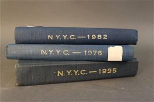 Set of 3 NYYC yearbooks
