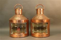 Copper Ship's Port and Starboard Lanterns