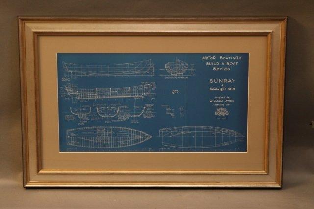 Two William Atkin Yacht Blueprints