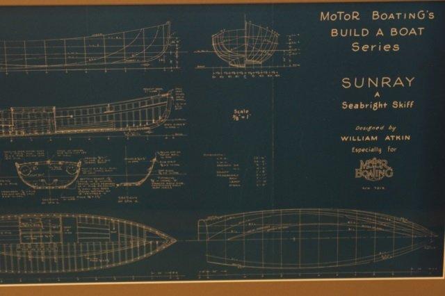 Two William Atkin Yacht Blueprints - 2