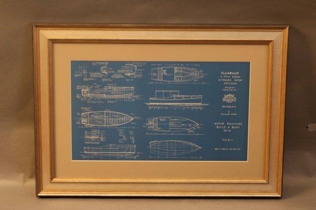 Two William Atkin Yacht Blueprints - 3