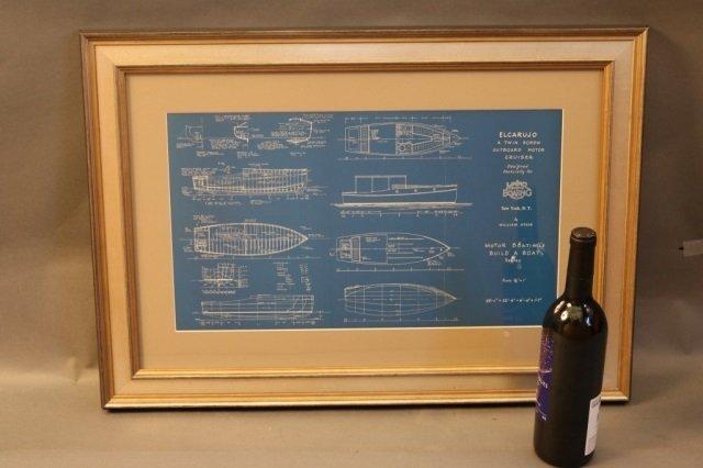 Two William Atkin Yacht Blueprints - 5