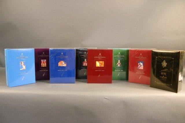 Rare,Unopened 8 Bottle Erte Courvoisier Collection