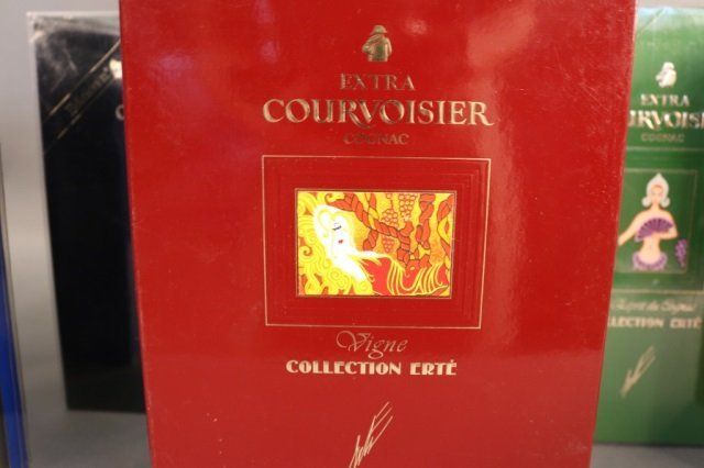 Rare,Unopened 8 Bottle Erte Courvoisier Collection - 6