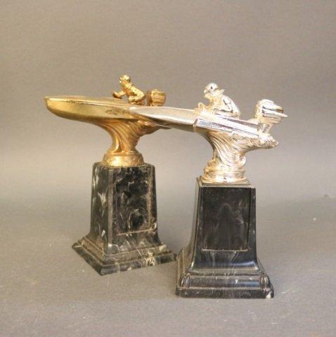 Lot of 2 Speedboat Trophies