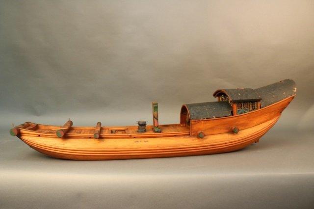 Antique Chinese Sampan Model