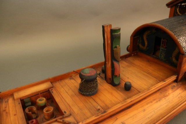 Antique Chinese Sampan Model - 2