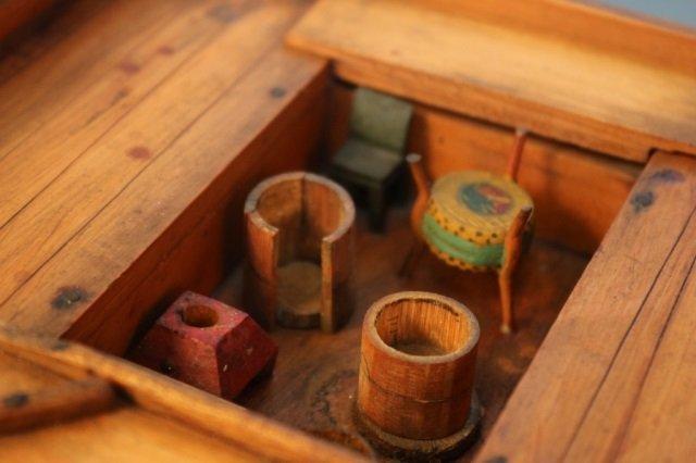 Antique Chinese Sampan Model - 3