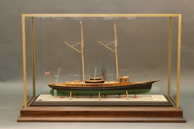 "Boucher Model of Steam Yacht ""Emu"""