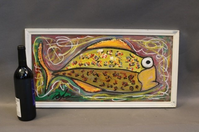 Abstract Fish Painting by Doyle - 4