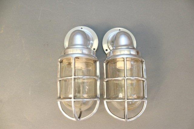 Pair of Aluminum Companionway Lights