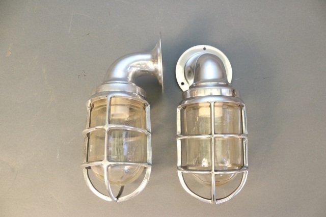 Pair of Aluminum Companionway Lights - 2