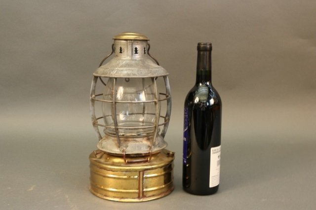 Steel Ship Lamp with Brass Tank - 3