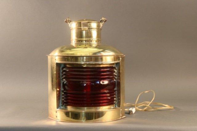 Polished Brass Ship's Lantern