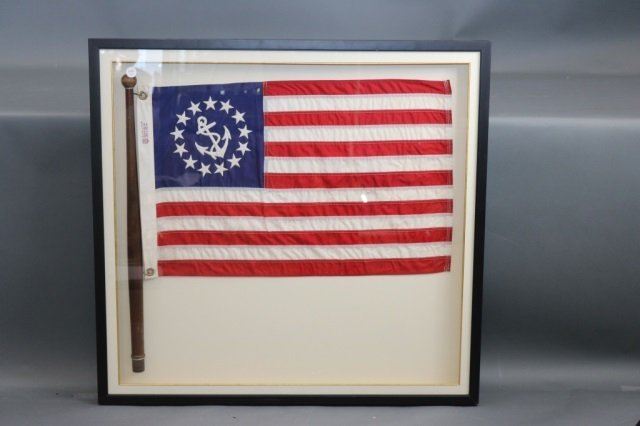 Boxed Yacht Flag in Shadow Box