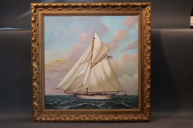 Yacht Painting by D. Tayler