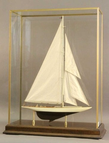 Model of the America's Cup Yacht Enterprise
