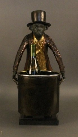 Cast Bronze Monkey Wine Cooler
