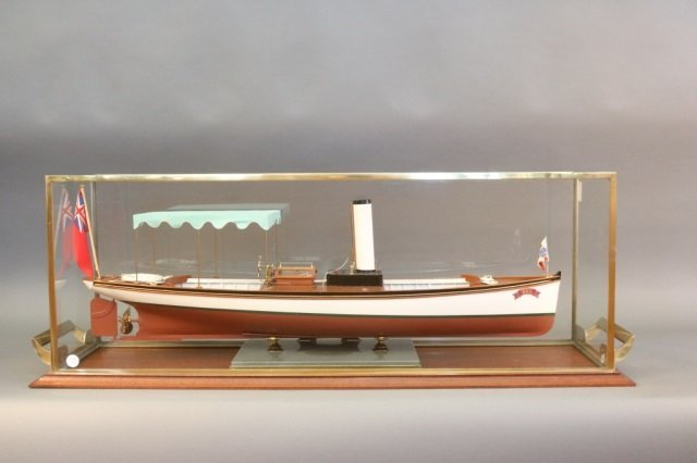 "Model of the Steam Launch ""Bat"" by Keith Townsend"