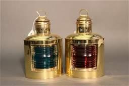 Brass Perko Port  Starboard Lanterns